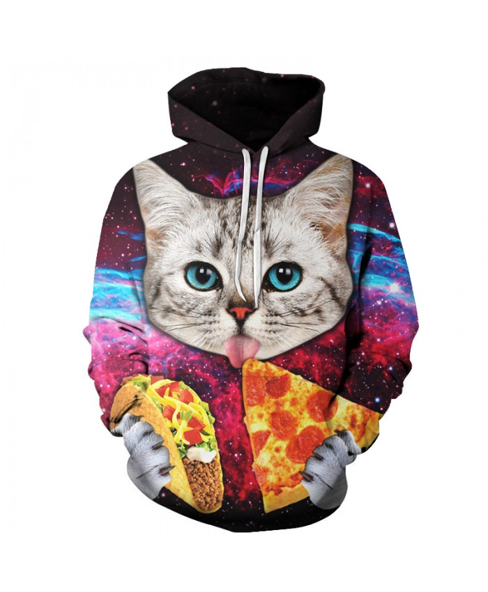 Pizza Cat Hoodies Men Women Brand Sweatshirts Unisex 3D Pritned Pullover 6xl Coats Plus Casual Tracksuits Autumn Male Jackets