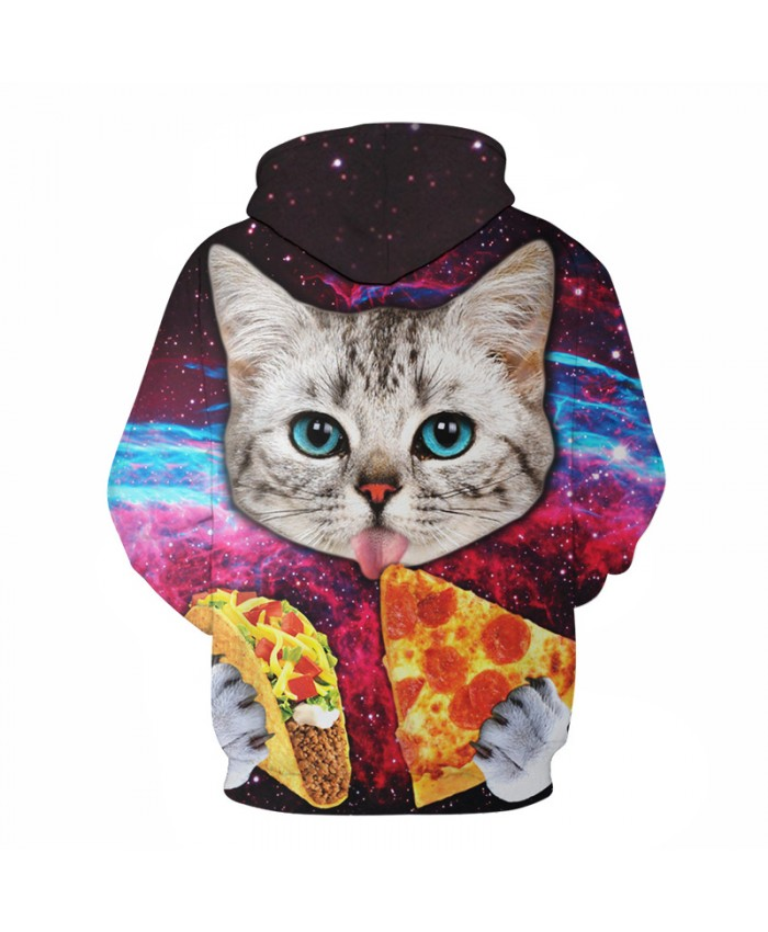 Pizza Cat Hoodies Men Women Brand Sweatshirts Unisex 3D Pritned Pullover 6xl Coats Plus Casual Tracksuits Autumn Male Jackets