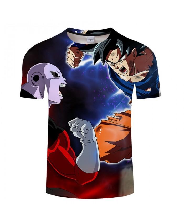 Positive Confrontation Cartoon Goku Dragon Ball 3D Print Men tshirt Anime Casual Short Sleeve Male O-neck Drop Ship