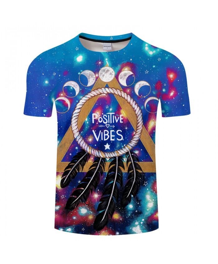 Positive vibes moon By Pixie coldArts 3D Print T shirt Men Anime ShortSleeve Top&Tee Tshirt Camiseta DropShip
