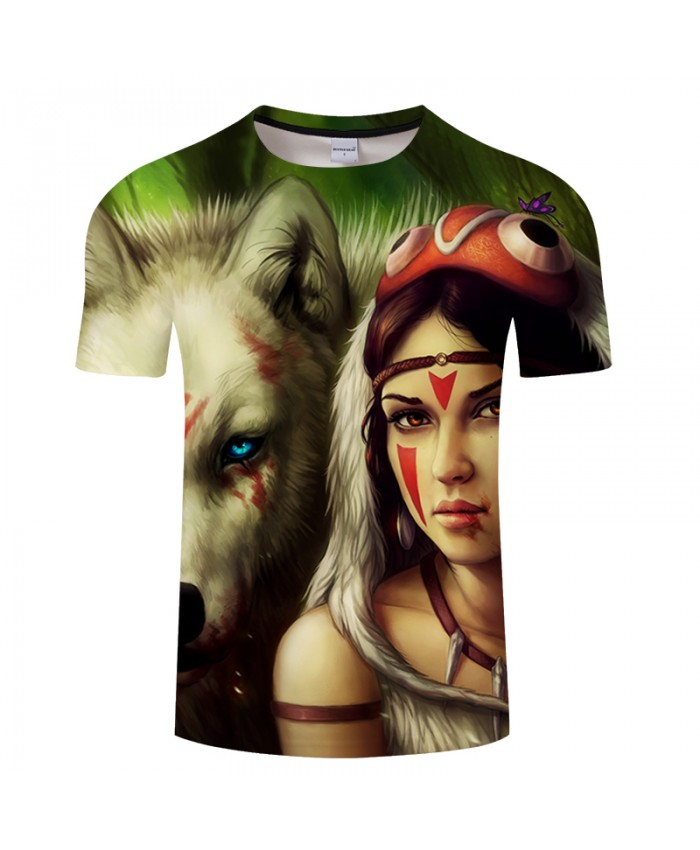 Princess Mononoke wider By JojoesArt 3D Print t shirt Men Women tshirt Fashion Short Sleeve O-neck Tops&Tee Streetwear Drop Ship