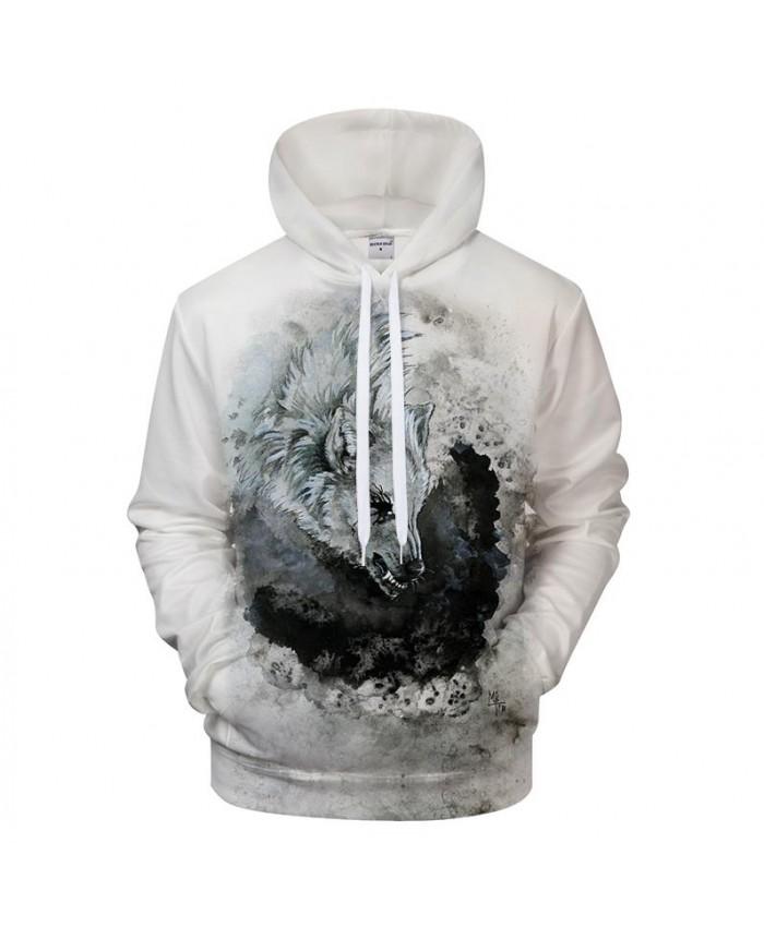 Print Hoodies 3D Wolf Sweatshirts Men Hoody Harajuku Tracksuit Male Pullover Brand Coat Streatwear Hoodie Drop ship