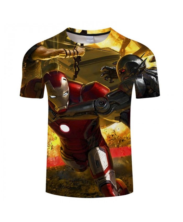 Print T Shirt Men 3D Brand tshirt Casual Short Sleeve O-neck Crossfit Shirt The Avenger 4 Tops&Tees Men Fitness