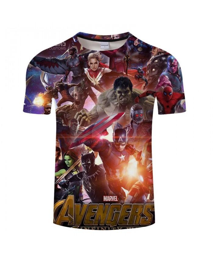 Print T Shirt Men 3D T Shirts tshirt Fashion Casual Short Sleeve O-neck Crossfit Shirt Tops&Tees The Avengers 4 Men