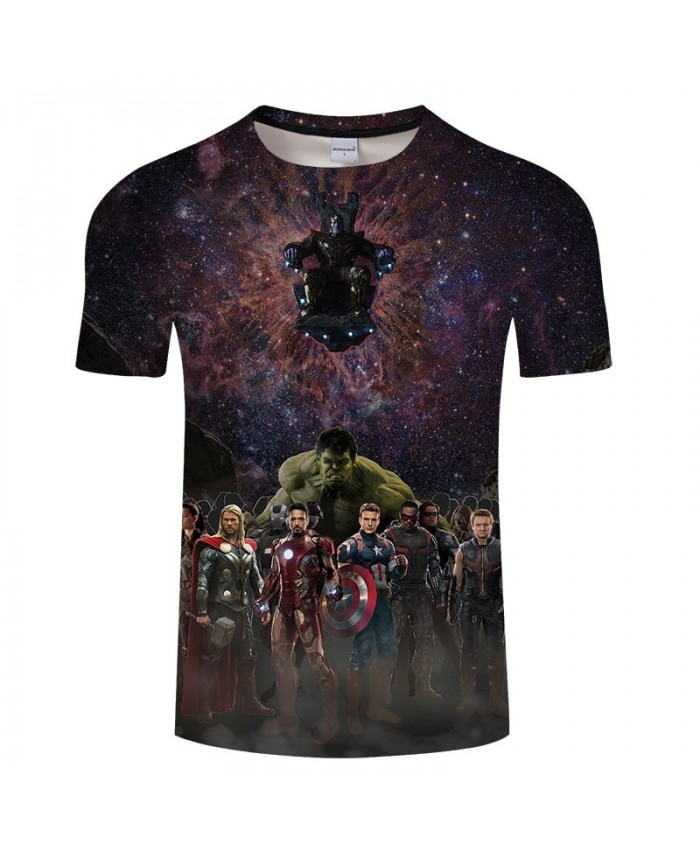 Print T Shirt Men Brand 3D T Shirts tshirt Avengers Endgame Casual Short Sleeve O-neck Crossfit Shirt Tops&Tees Men