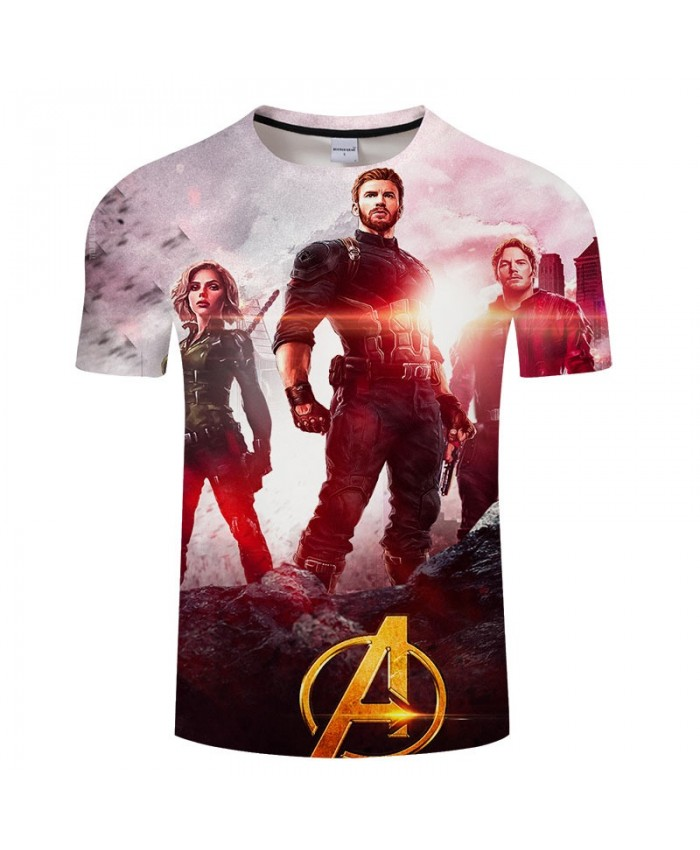 Print T Shirt Men Brand 3D tshirt Avengers Endgame Casual Short Sleeve O-neck Crossfit Shirt Tops&Tees Men Fitness