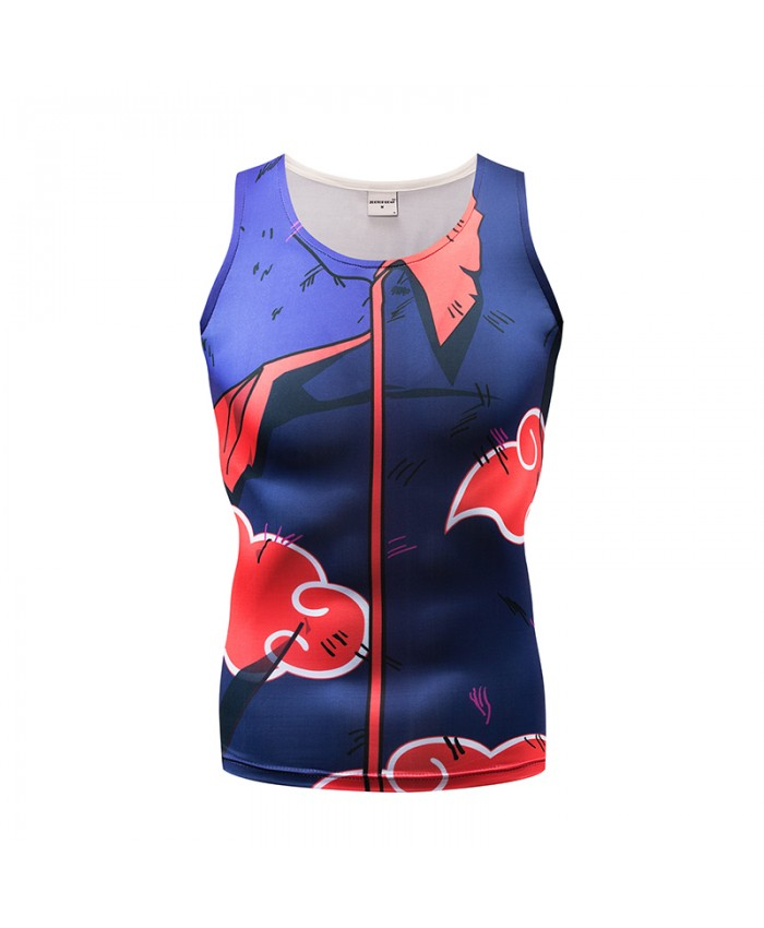 Print Tank Tops Men Vest Male singlet Anime Top&Tee Fitness Chinese Style Tight Bodybuilding Women Sleeveless Summer