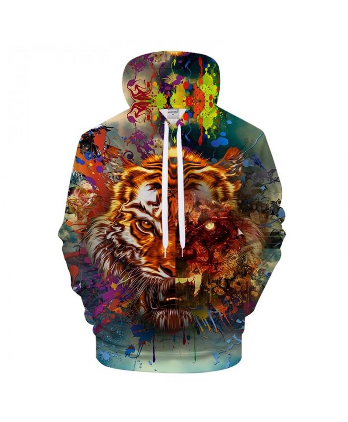 Print Tiger 3D Hoodie Men Hoody Brand Tracksuit Pullover Sweatshirt Harajuku Streetwear Animal Coat Hiphop DropShip