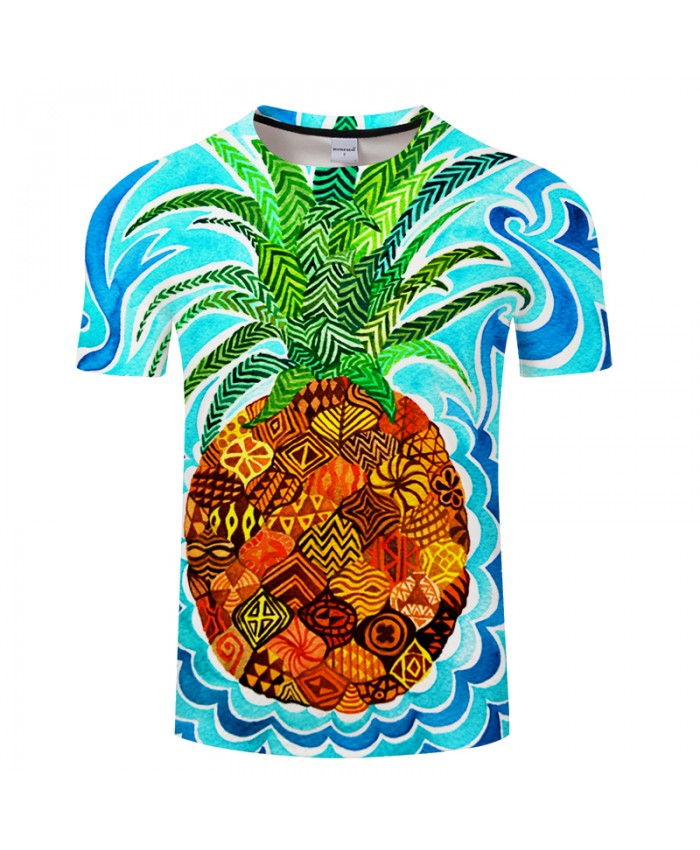 Psychedelic Pineapple By Art 3D FruitPrint T shirt Men Summer Casual ShortSleeve Top&Tee Boy Tshirt Streetwea
