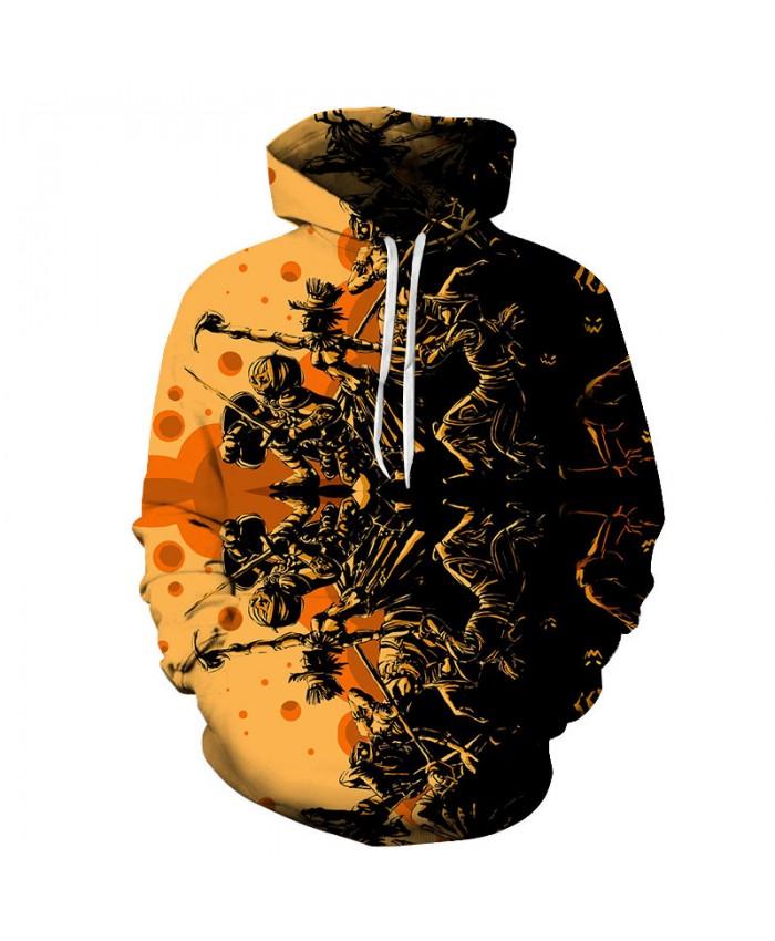 Pumpkin Fighting 3D Print Hoodies Men Hoody Harajuku Hoodie Streatwear Sweatshirt Tracksuit Pullover Hip Hop Dropship