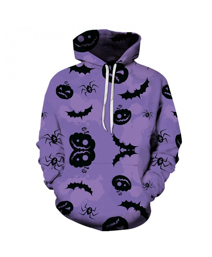 Pumpkin&Spider 3D Print Hoodies Men Hoody Harajuku Hoodie Streatwear Sweatshirt Tracksuit Pullover Hip Hop Dropship