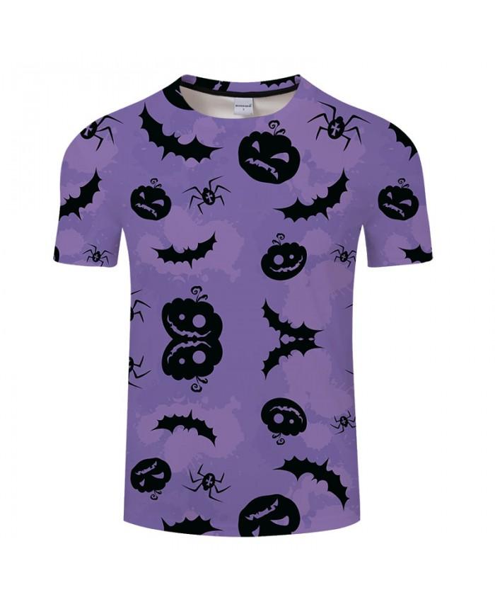 Pumpkin&Spider 3D Print T shirts Men T-shirts Brand Top Tees Streetwear Summer Short Sleeve tshirt O-neck Drop Ship
