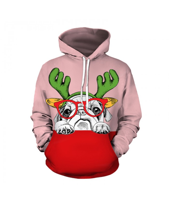 Puppy wants a Christmas present Hoodies 3D Sweatshirts Men Women Hoodie Print Couple Tracksuit Hooded Hoody Clothing