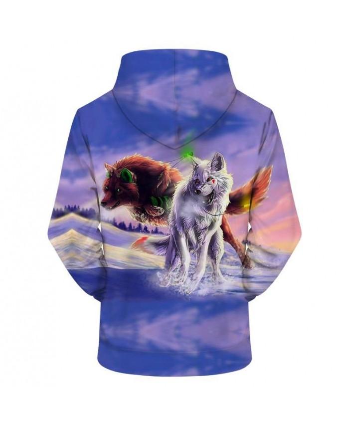 83cd808f970d Purple 3D Hoodies Wolf Hoodie Men Women Hoody Streatwear Sweatshirt ...