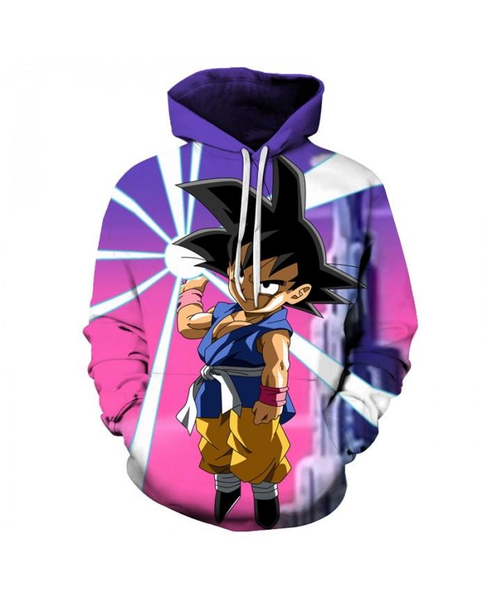 Purple Cartoon 3D Print Hoodie Men Autumn Long Sleeve Tops Goku Dragon Ball Hoodies Saiyan Band Pullover Sweatshirts Drop Ship