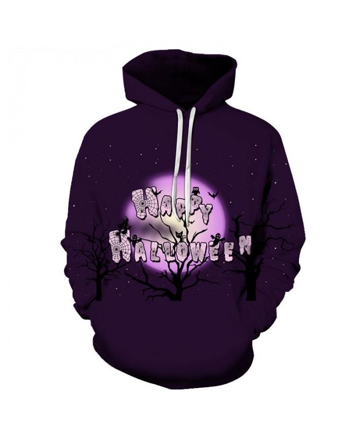 Purple Halloween 3D Print Hoodies Men Hoody Harajuku Hoodie Streatwear Sweatshirt Tracksuit Pullover Hip Hop Dropship