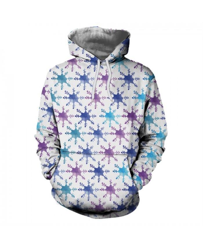 Purple Snowflake Christmas Hoodies 3D Sweatshirts Men Women Hoodie Print Couple Tracksuit Hooded Hoody Clothing