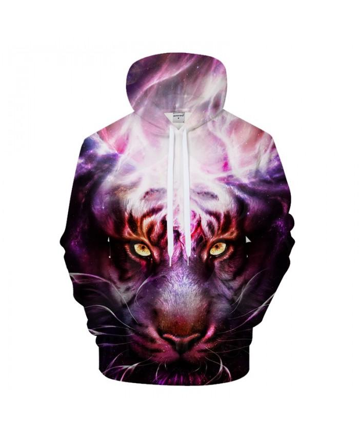 Purple Tiger Hoody 3D Hoodies Casual Tracksuit Harajuku Sweatshirt Streatwear Coat Pullover Hoodie Hip Hop DropShip