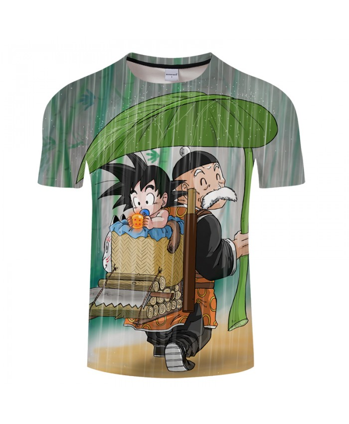 Rain&Goku 3D Print T shirt Men Summer Anime Short Sleeve Tops&Tee Women Tshirt Dragon Ball Boy Haruju 2021 Drop Ship