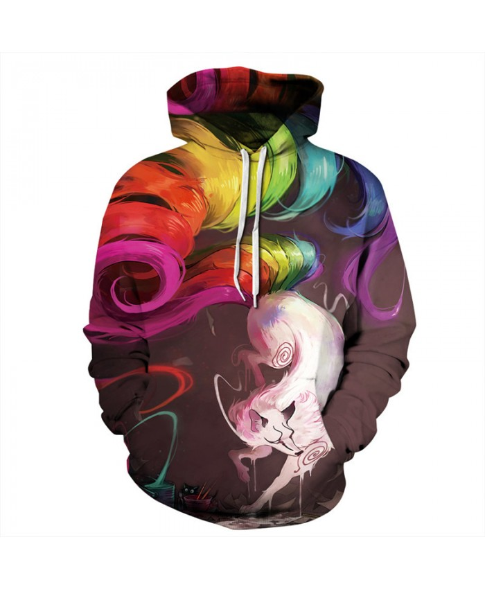 Rainbow Tail Monster Foxes Fashion Pullover Latest Hooded Sweatshirts