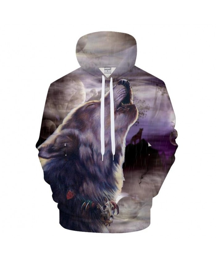Raining Wolf 3D Hoodies Print Hoody Men Sweatshirt Anime Tracksuit Harajuku Coat Streetwear 6xl Hip hop Drop Ship