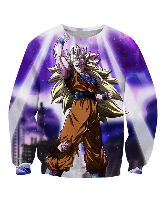 Raise Your Hand Dragon Ball 3D Mens No Cap Pullover Sweatshirt Pullover Casual Men Streetwear Sweatshirt Fashion
