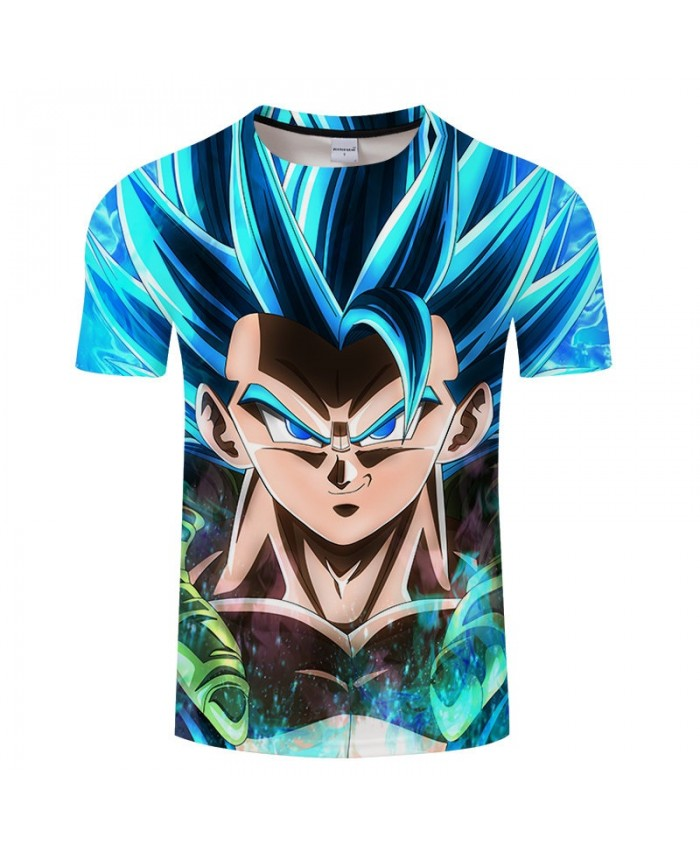 Raised Hair Cartoon Goku Dragon Ball 3D Print Men tshirt 2021 New Anime Casual Short Sleeve Male O-neck Drop Ship