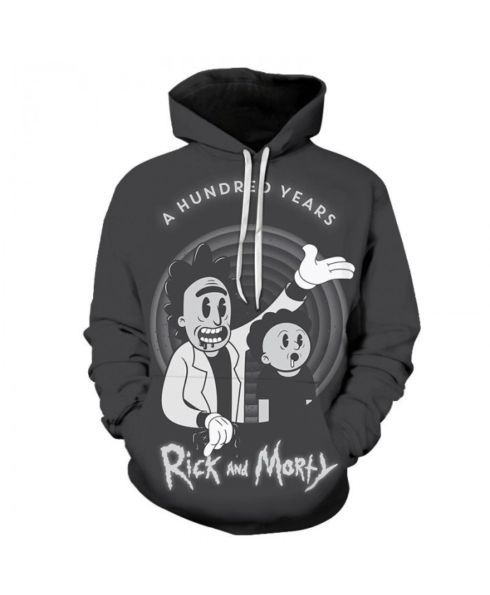 Reach Out Rick And Morty 3D Print Men Pullover Sweatshirt Mens Custom Pullover Hoodie Streetwear Sweatshirt Casual