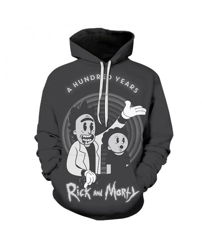 Reach Out Rick And Morty 3D Print Men Pullover Sweatshirt Mens Custom Pullover Hoodie Streetwear Sweatshirt Casual