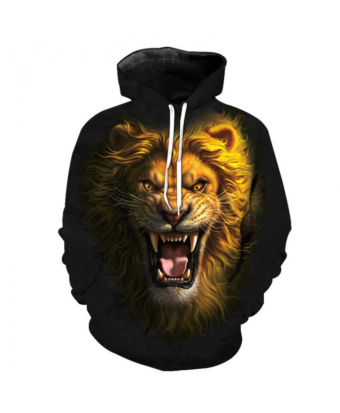 Realistic 3D Lion Printing Fashion Hoodie Fall pullover Casual Hoodies Casual Hoodie Autumn Tracksuit Pullover Hooded Sweatshirt