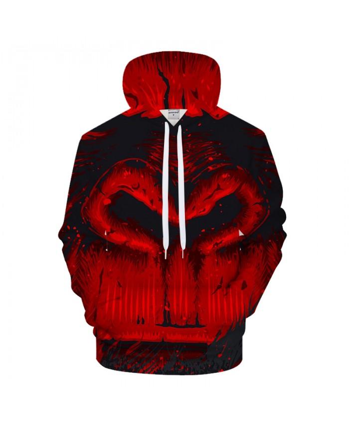 Red 3DPrint Hoodies Men Casual Sweatshirt HoodedTracksuit Brand Pullover Unisex Jacket Coat Halloween Hoody Drop Ship