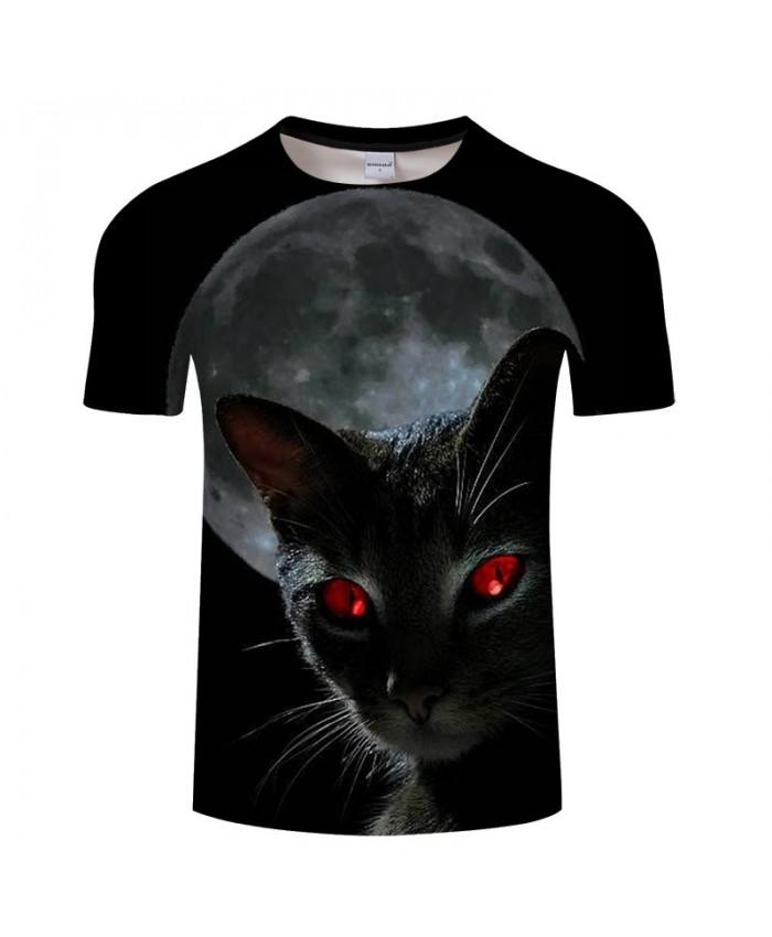 Red Eyes Cat 3D Printed Men tshirt Crossfit Shirt Casual Summer Short Sleeve Male tshirt Brand Men Loose Round Neck