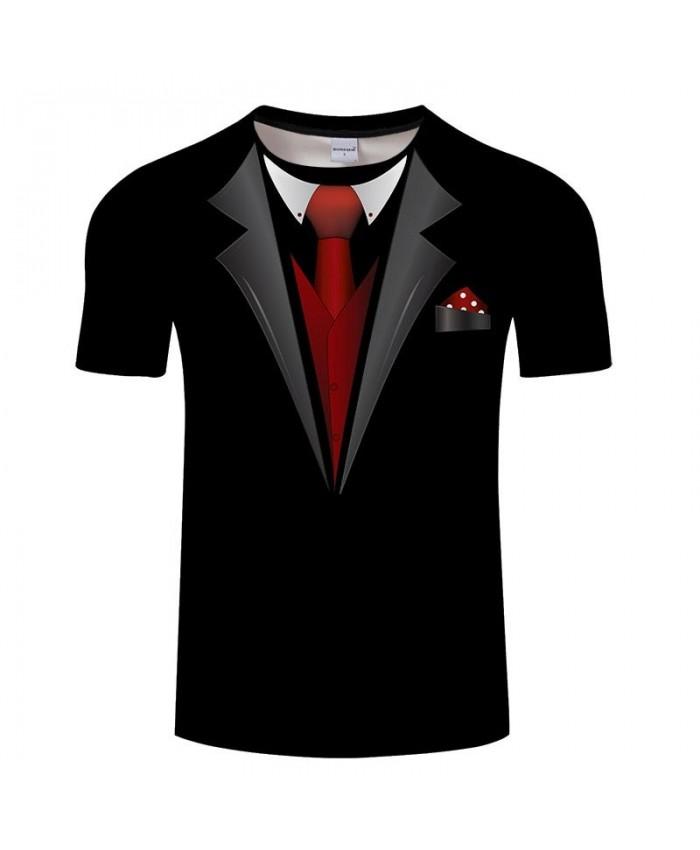 Red Tie 3D Printed Men Anime tshirt Crossfit Shirt Casual Short Sleeve Summer Male T Shirt Men Brand O-neck Tops&Tee