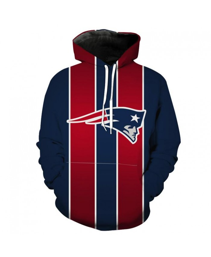 Red and Blue New England Patriots Hoodie Football Patriots Clothes Hooded Sweatshirt Autumn Men Women Casual Pullover Sportswear