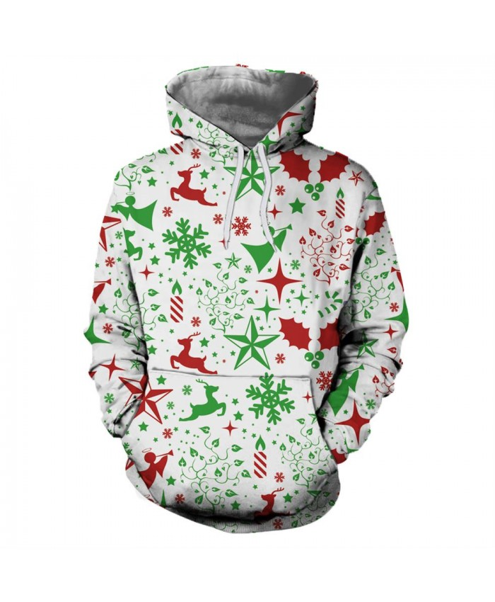 Red and Green Dreamy Christmas Hoodies 3D Sweatshirts Men Women Hoodie Print Couple Tracksuit Hooded Hoody Clothing