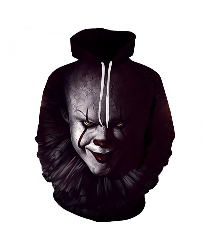 Red-black Lips Clown 3D Printed Men Pullover Sweatshirt Clothing for Men Custom Pullover Hoodie Casual Hoodies Men