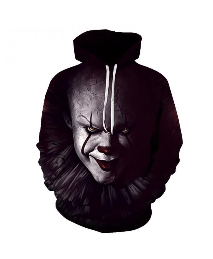 Red-black Lips Clown 3D Printed Men Pullover Sweatshirt Clothing for Men Custom Pullover Hoodie Casual Hoodies Men