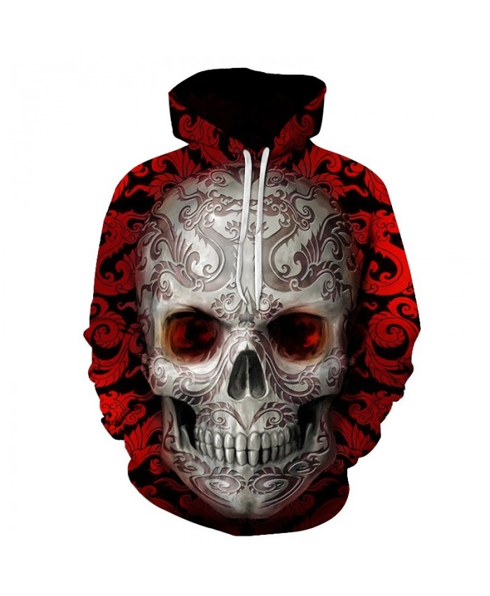 Red sugar skull Printed 3D Hoodies Men Women Sweatshirts Brand Hoodie Fashion Casual Tracksuits Plus Size Quality Streetwear