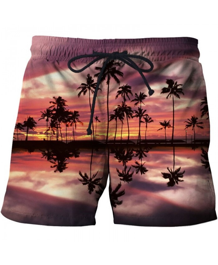 Reflection Of All Things Men Board Shorts 3D Print Men Shorts Casual Summer Cool Men Elastic Waist Male Drop Ship