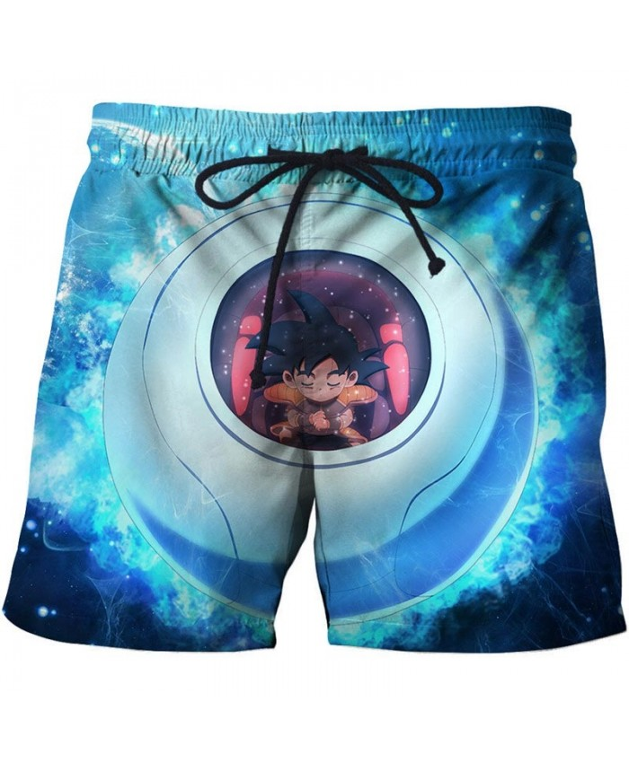 Rest In The Jar Dragon Ball Men Anime 3D Stone Printed Beach Shorts Casual Male Quick Drying Breathable Board Shorts