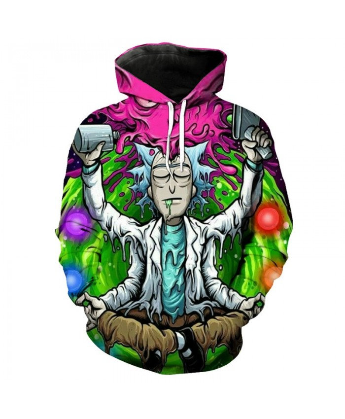 Rick And Morty 3D Hoodies Men Sweatshirts Comic Colorful Hoodie Funny Tracksuits Brand Pullover Male Hoodies 3d Streetwear Coats