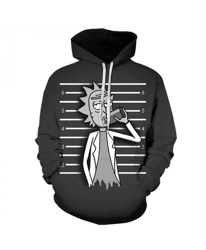 Rick And Morty 3D Printed Pullover Sweatshirt Clothing for Mens Custom Pullover Hoodie Streetwear Sweatshirt Casual