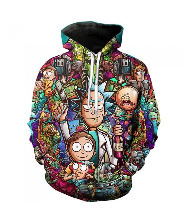 Rick and Morty Casual Hoodies 3D Sweatshirt Men brand hoodie comic fashion with Hoodie streetwear