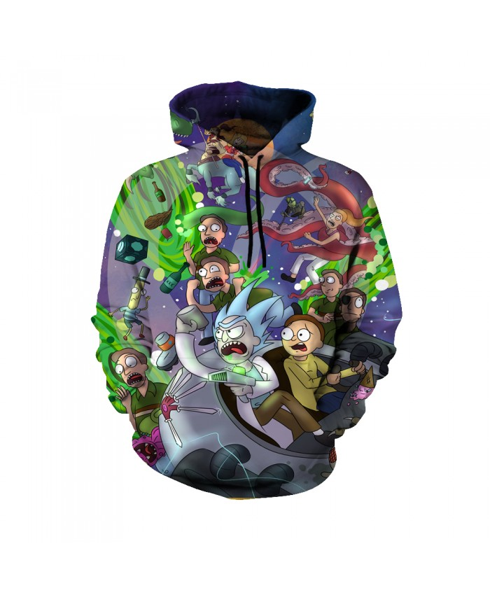 Rick and Morty Figure Hoodies Sweatshirt Men Women Autumn Hoodies Fashion Brand Rick and Morty Costume B