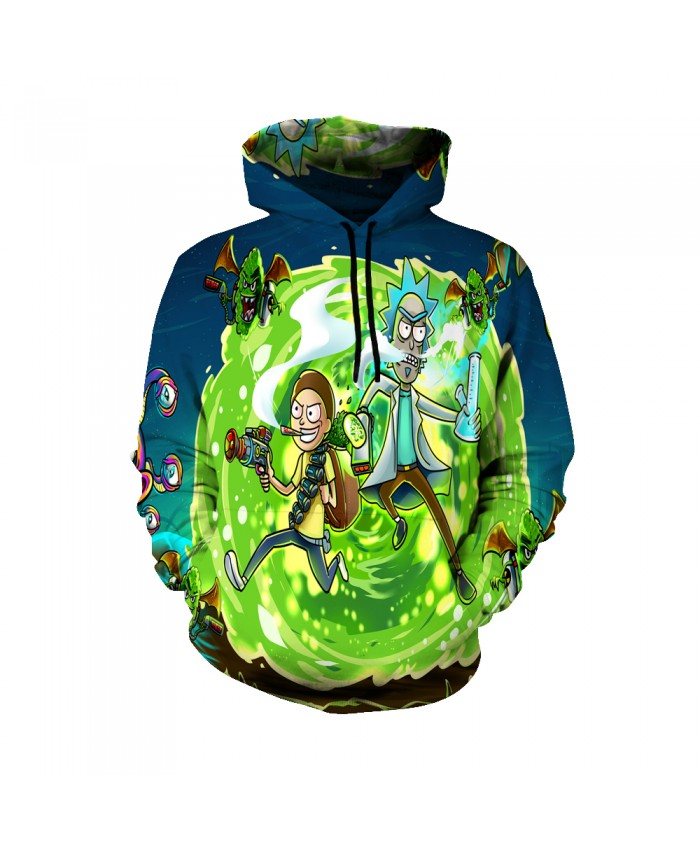 Rick and Morty Figure Hoodies Sweatshirt Men Women Autumn Hoodies Fashion Brand Rick and Morty Costume C