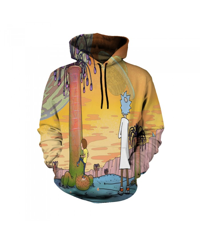 Rick and Morty Figure Hoodies Sweatshirt Men Women Autumn Hoodies Fashion Brand Rick and Morty Costume E