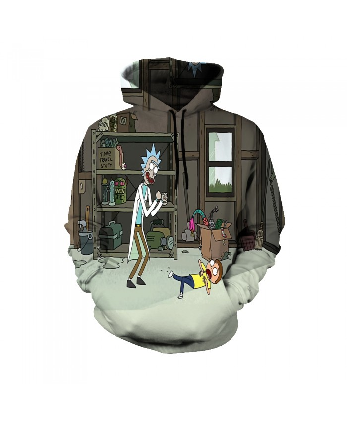 Rick and Morty Figure Hoodies Sweatshirt Men Women Autumn Hoodies Fashion Brand Rick and Morty Costume F