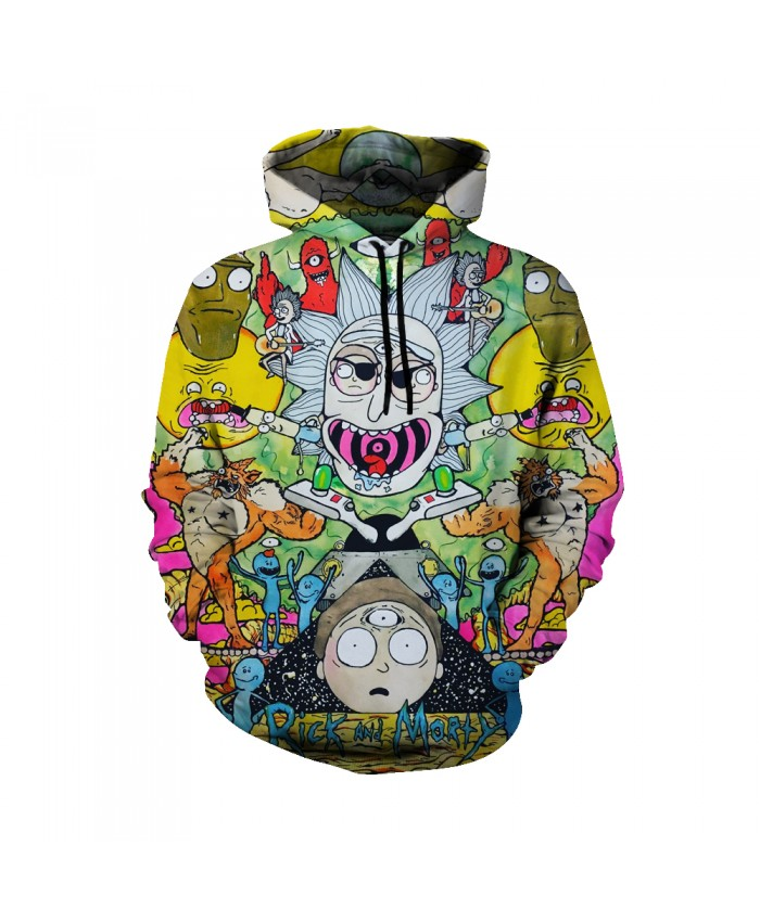 Rick and Morty Figure Hoodies Sweatshirt Men Women Autumn Hoodies Fashion Brand Rick and Morty Costume P