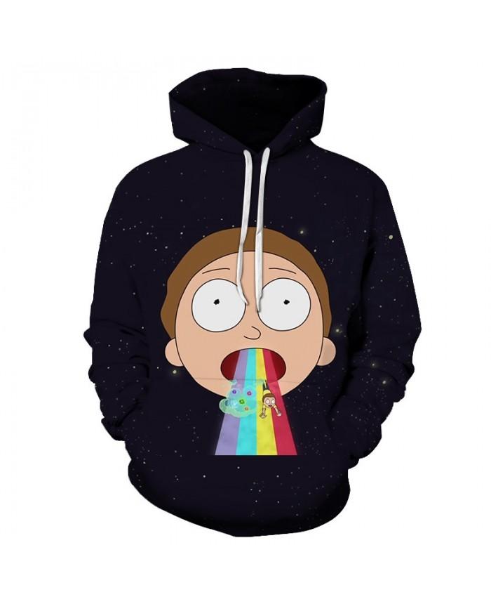 Rick and Morty Printed Hoodies Mens Sweatshirts 3D Hoodie Anime Pullover Male Hoody Streetwear Tracksuits Drop Ship B