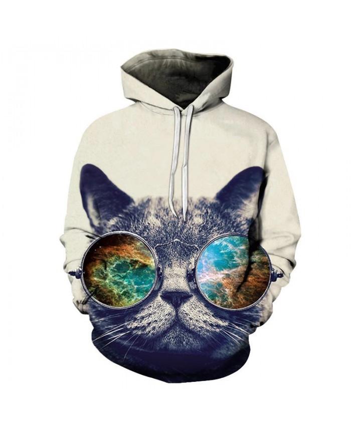 River Cat 3D Print Mens Pullover Sweatshirt Pullover Casual Hoodie Men Streetwear Sweatshirt Hoodie Tracksuits Tops